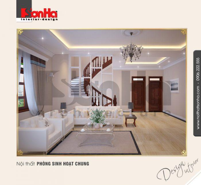 3.Thiết kế nội thất phòng sinh hoạt chung sang trọng
