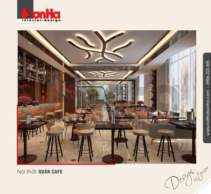 3.Thiết kế nội thất quán cafe khách sạn 5 sao