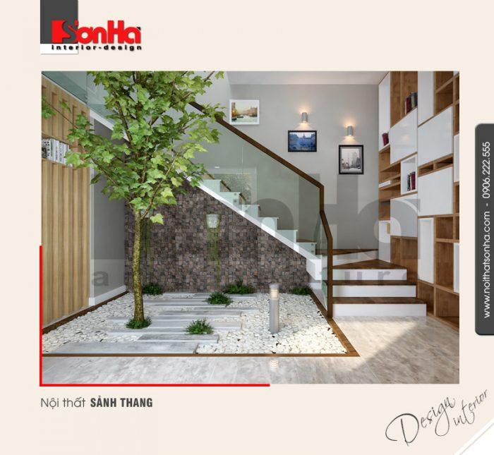 3.Thiết kế nội thất sảnh thang cá tính
