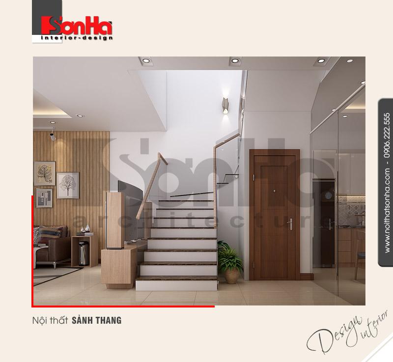 3.Thiết kế nội thất sảnh thang đơn giản
