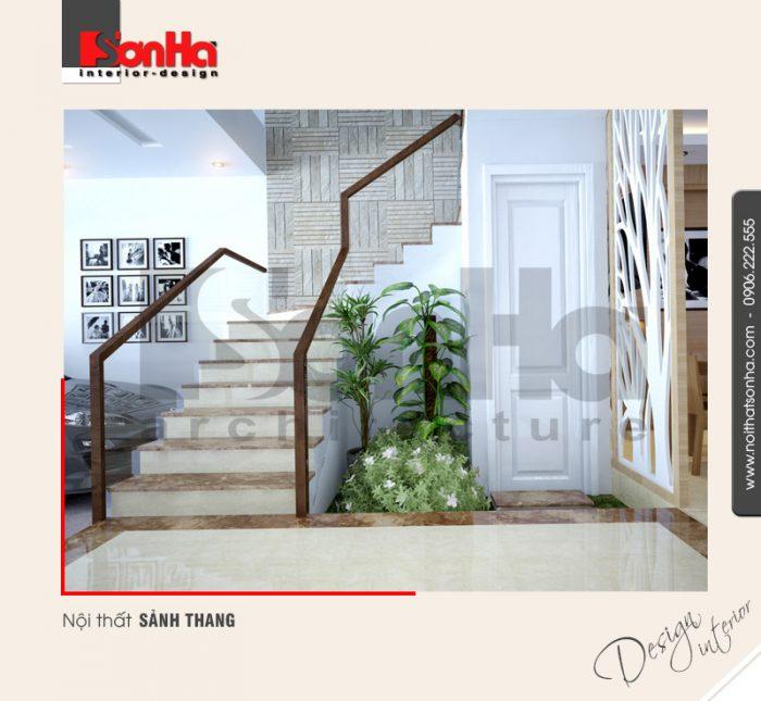 3.Thiết kế nội thất sảnh thang nhà phố tại quảng ninh NT NOD 0120