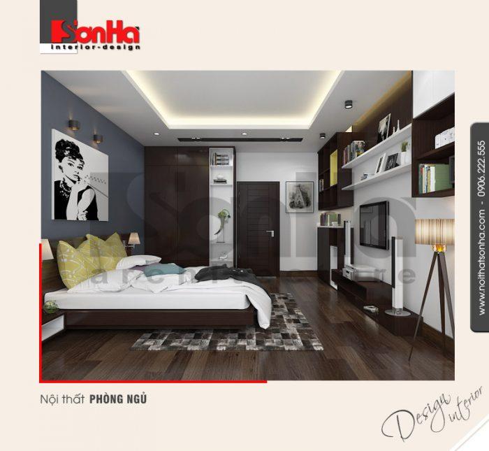 4.Mẫu nội thất đẹp cho nhà ống với phòng ngủ hiện đại đẹp