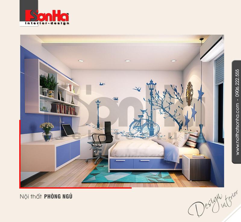 4.Mẫu nội thất phòng ngủ hiện đại đẹp tại hải phòng NT BTD 0039