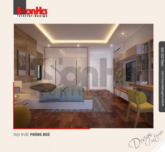 4.Mẫu nội thất phòng ngủ nhà ống tiện nghi hiện đại tai hải phòng NT NOD 0127