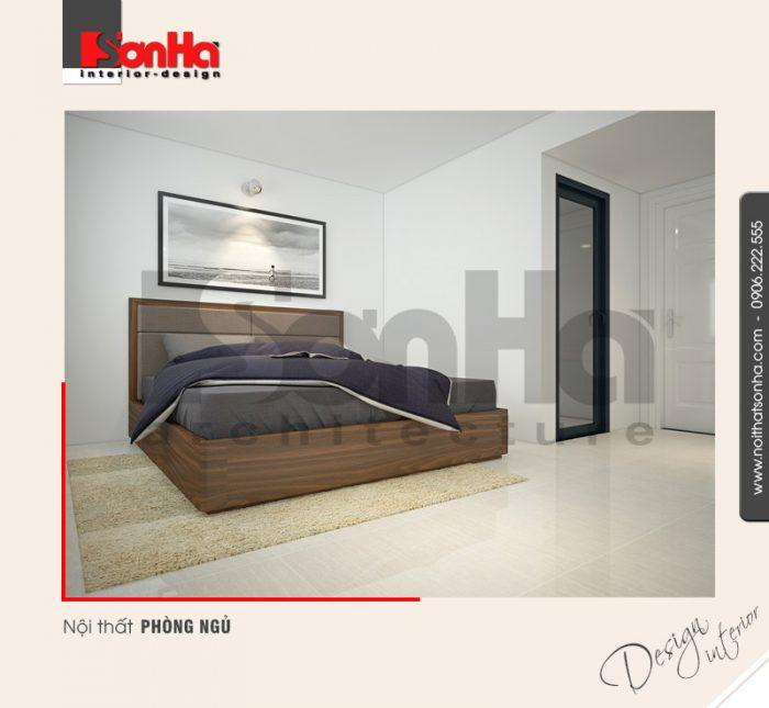 4.Mẫu nội thất phòng ngủ trẻ trung của nhà ống hiện đại tại quảng ninh NT NOD 0124