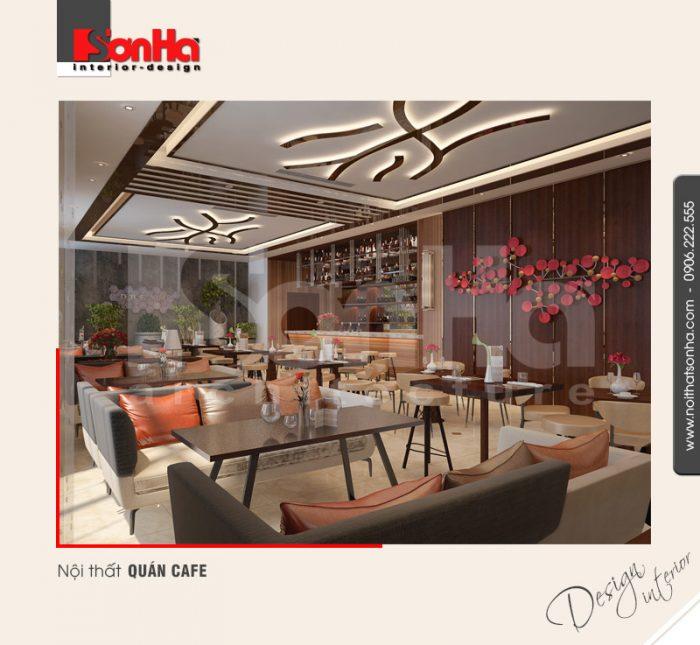 4.Mẫu nội thất quán cafe khách sạn 5 sao