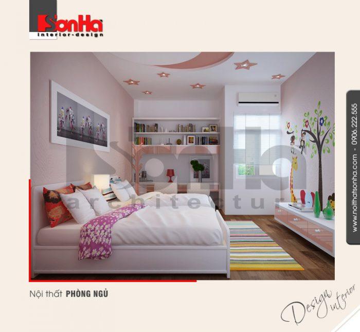 5.Thiết kế nội thất phòng ngủ đẹp dễ thương