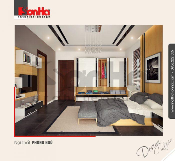 5.Mẫu thiết kế nội thất biệt thự đẹp dành cho phòng ngủ