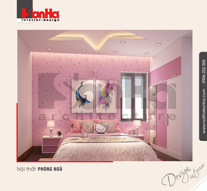 5.Thiết kế nội thất phòng ngủ hiện đại dễ thương