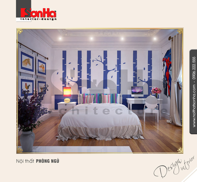 6.Mẫu nội thất phòng ngủ cá tính
