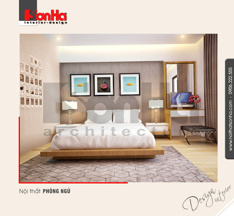 6.Mẫu nội thất phòng ngủ đẹp dành cho nhà phố tại quảng ninh NT NOD 0120