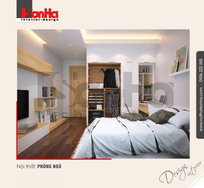 6.Mẫu nội thất phòng ngủ nhà ống hiện đại tại ngô quyền hải phòng NT NOD 0125