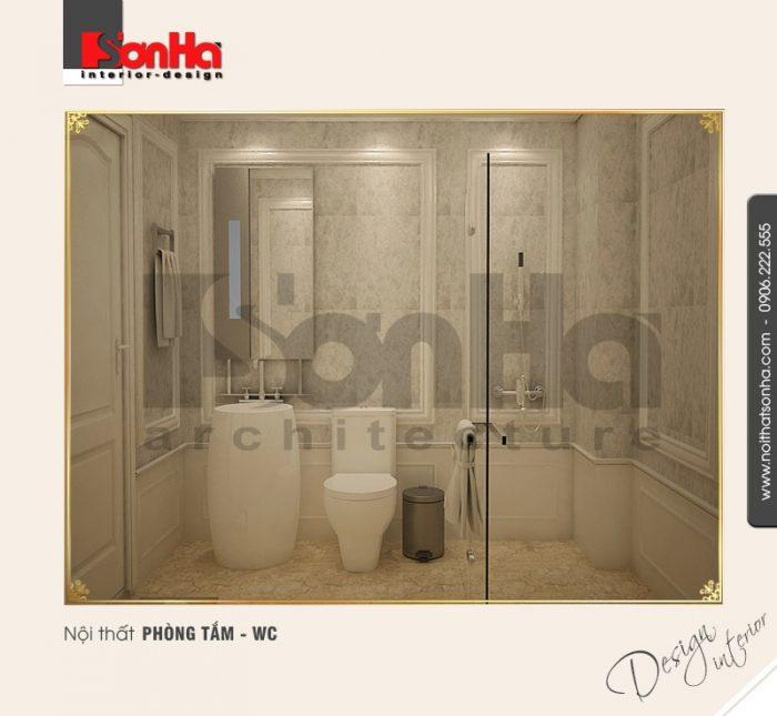 6.Mẫu nội thất phòng tắm wc bố trí hợp lý