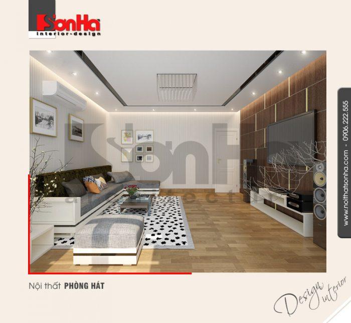 7.Thiết kế nội thất phòng hát hiện đại dành cho nhà phố tại hải phòng NT NOD 0122
