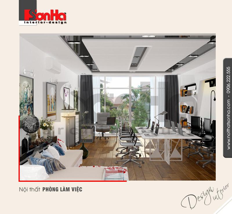 7.Thiết kế nội thất phòng làm việc hiện đại của nhà phố tại hải phòng NT NOD 0133