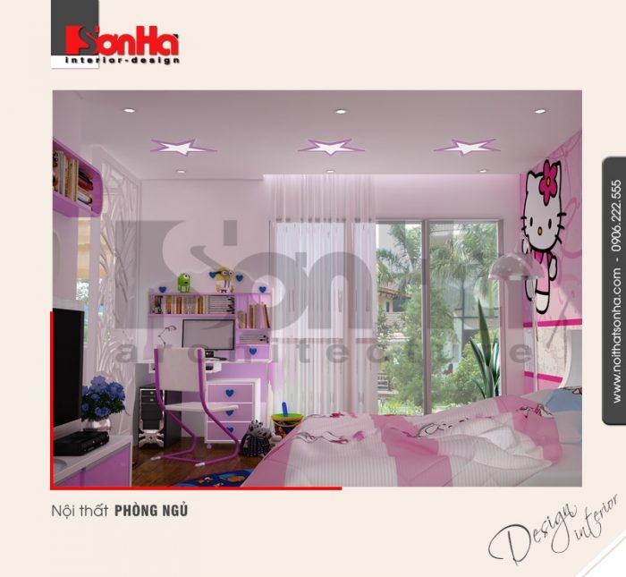 7.Thiết kế nội thất phòng ngủ dễ thương