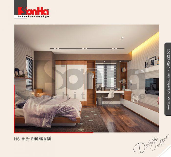 7.Thiết kế nội thất phòng ngủ nhà ống 3 tầng trẻ trung hiện đại tại hải phòng NT NOD 0127