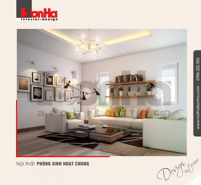 7.Thiết kế nội thất phòng sinh hoạt chung cá tính hiện đại đẹp