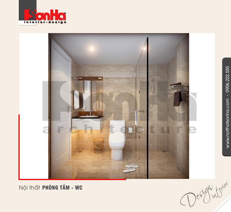 7.Thiết kế nội thất phòng tắm wc bố trí hợp lý