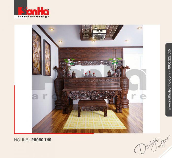 7.Thiết kế nội thất phòng thờ nhà phố tại quảng ninh NT NOD 0120