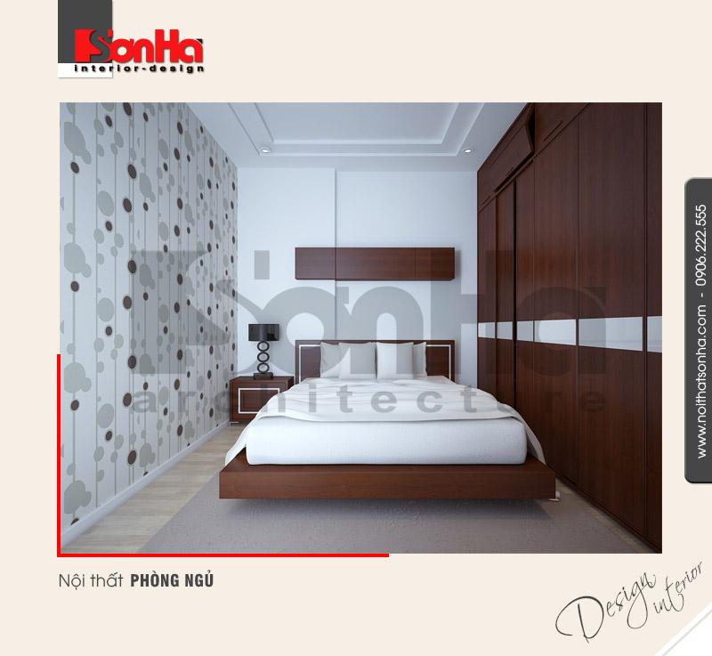 8.Mẫu nội thất phòng ngủ đơn giản của nhà phố tại sài gòn NT NOD 0131