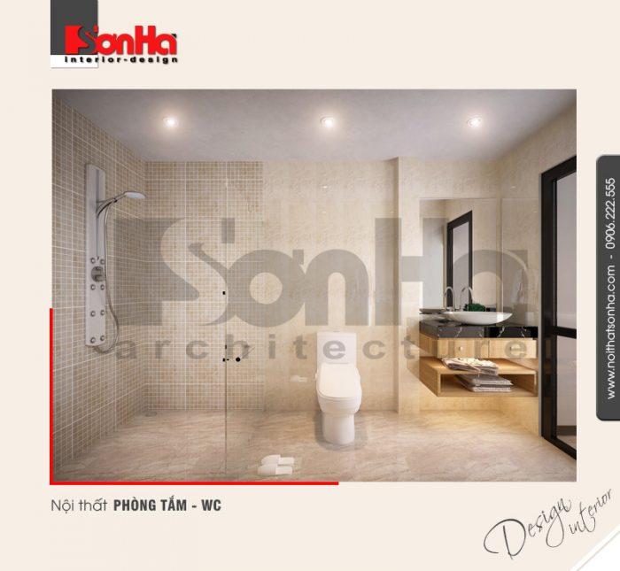 8.Mẫu nội thất phòng tắm wc bố trí hợp lý