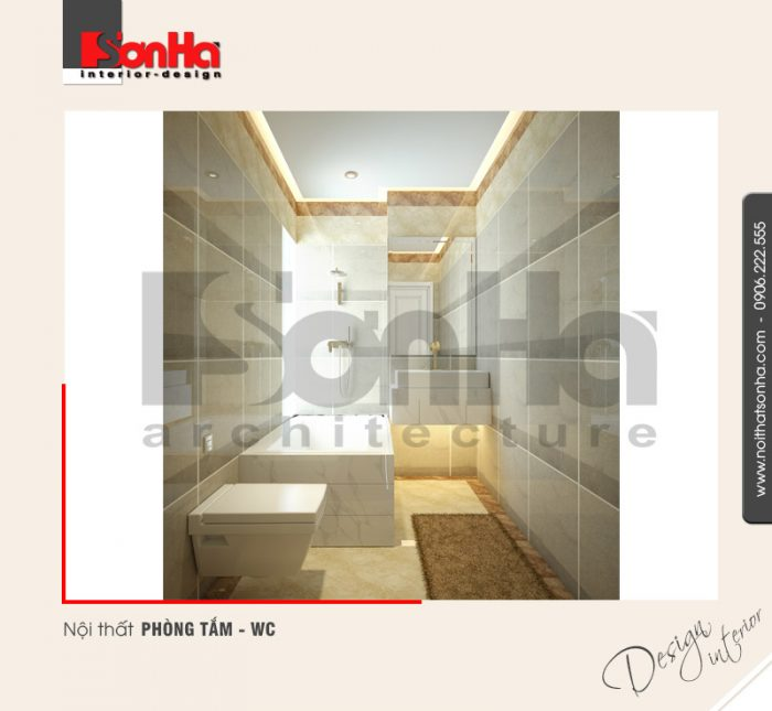 8.Mẫu nội thất phòng tắm wc hiện đại dành cho nhà phố tại quảng ninh NT NOD 0120