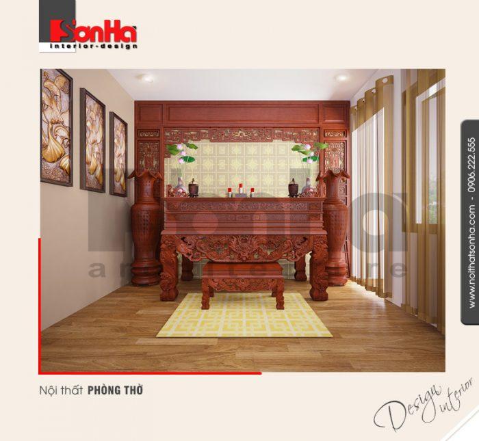 8.Mẫu nội thất phòng thờ đẹp