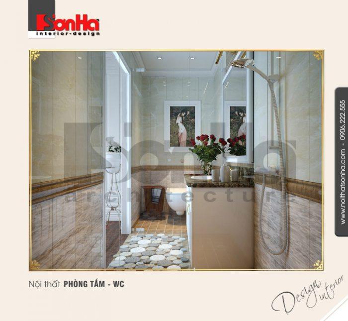 9.Thiết kế nội thất phòng tắm wc đẹp cho biệt thự