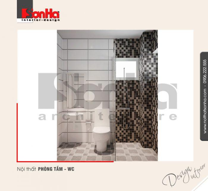 9.Thiết kế nội thất phòng tắm wc đẹp đơn giản