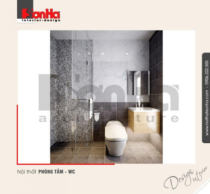 9.Thiết kế nội thất phòng tắm wc nhà ống tiện nghi tại hải phòng NT NOD 0123
