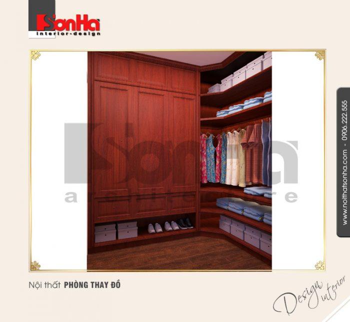 9.Thiết kế nội thất phòng thay đồ đơn giản