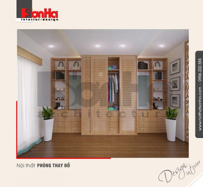 9.Thiết kế nội thất phòng thay đồ rộng rại tiện lợi
