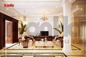 BIA Thiết kế nội thất biệt thự phong cách cổ điển Pháp tại Hà Nội NT BTP 0028