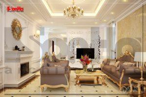 BIA Thiết kế nội thất cổ điển cho biệt thự 3 tầng tại Hải Dương NT BTP 0031