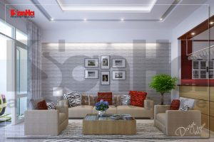 BIA Thiết kế nội thất nhà phố hiện đại sang trong tại quận Lê Chân hải phòng NT NOD 0122