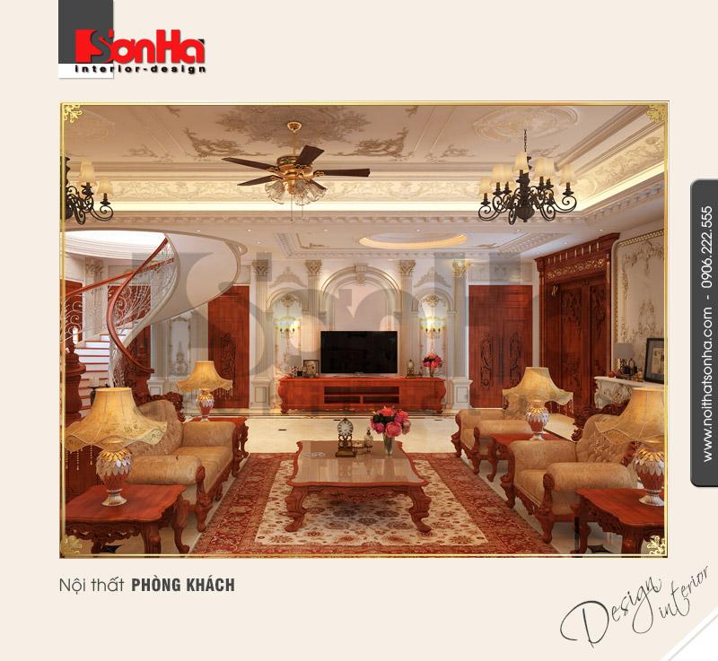 1.Thiết kế nội thất phòng khách biệt thự đẳng cấp