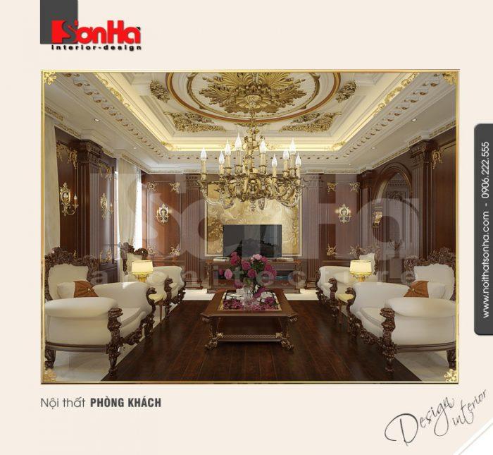 1.Thiết kế nội thất phòng khách sang trọng