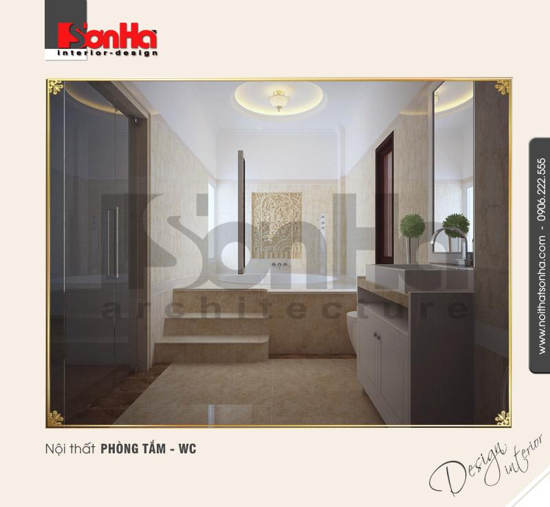 12.Mẫu nội thất phòng tắm wc bố trí hợp lý