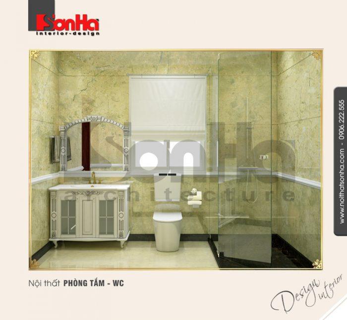 12.Mẫu nội thất phòng tắm wc đơn giản