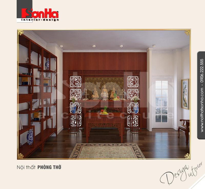 13.Thiết kế nội thất phòng thờ đẹp
