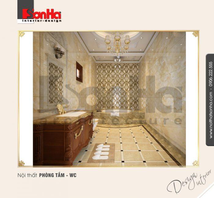 14.Mẫu nội thất phòng tắm wc sang trọng