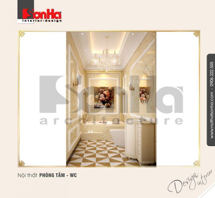 16.Mẫu nội thất phòng tắm wc nhỏ đẹp