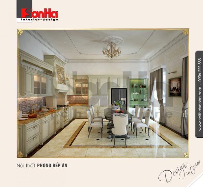 2.Mẫu nội thất phòng bếp ăn trang trí đẹp