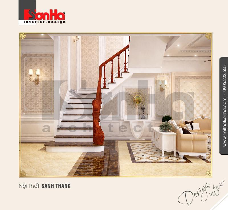 2.Mẫu nội thất sảnh thang cổ điển
