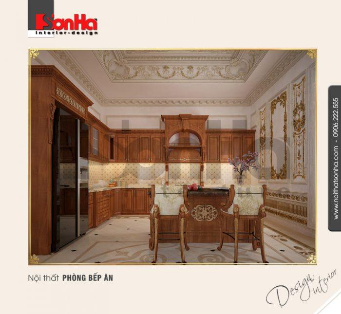 3.Thiết kế nội thất phòng bếp ăn cổ điển NT BTP 0094