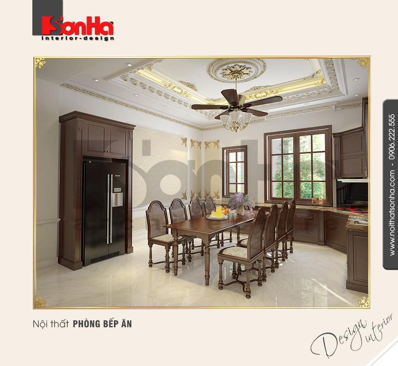 3.Thiết kế nội thất phòng bếp ăn đơn giản
