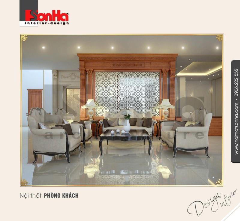 3.Thiết kế nội thất phòng khách tầng 1 kinh doanh đẹp