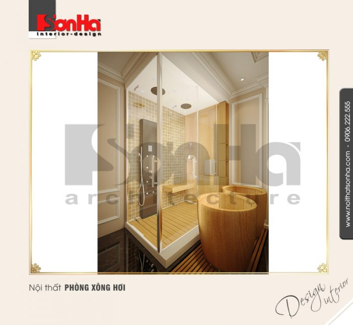 3.Thiết kế nội thất phòng xông hơi đẹp NT BTP 0084
