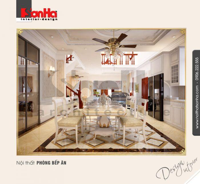 4.Mẫu nội thất phòng bếp ăn bắt mắt
